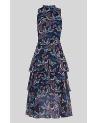 Whistles - Papillion Print Tiered Dress - Lyst