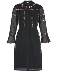 Whistles - Amira Embroidered Shirt Dress - Lyst