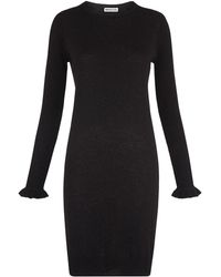 Whistles - Frill Cuff Sparkle Knit Dress - Lyst
