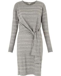 Whistles - Louise Tie Front Dress - Lyst