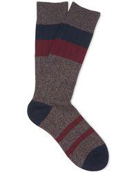 Whistles - Stripe Cotton-blend Socks - Lyst