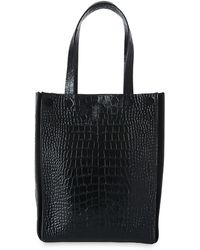 Whistles - Croc Suede Mix Tote Bag - Lyst