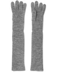 Whistles - Wool Blend Long Rib Gloves - Lyst