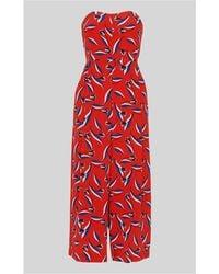Whistles - Lyza Tulip Print Silk Jumpsuit - Lyst