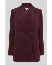 Whistles - Cord Double Breasted Blazer - Lyst