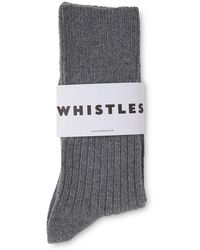 Whistles - Cashmere Mix Socks - Lyst