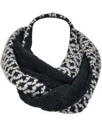 Wilsons Leather - Black Rivet Geo Circles And Fleece Loop Scarf - Lyst