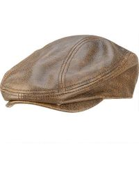Wilsons Leather - Distressed Leather Driving Cap - Lyst