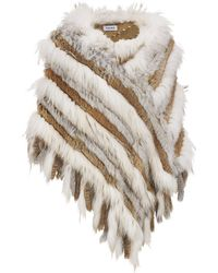 Wilsons Leather - Woven Fur Poncho - Lyst