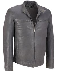 Wilsons Leather - Black Rivet Mustang Basic Cycle Jacket - Lyst