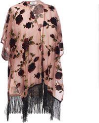 Wilsons Leather - Velvet Floral Ruana - Lyst