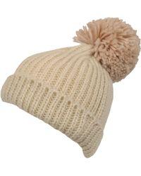 350134ea0 Lyst - San Diego Hat Company Pom Knit Headband in Natural