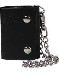 Wilsons Leather - Double Snap Leather Cycle Wallet W/ Chain - Lyst