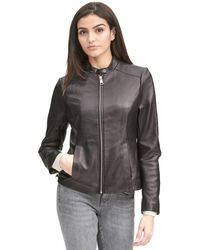 Wilsons Leather - Designer Brand Classic Scuba Leather Jacket - Lyst