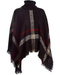Wilsons Leather - Sylvia Alexander Large Plaid Poncho - Lyst