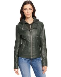 Wilsons Leather - Web Buster Faux-leather Moto Jacket W/ Quilting Details - Lyst