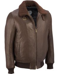 Wilsons Leather - Vince Camuto Aviator Leather Jacket - Lyst