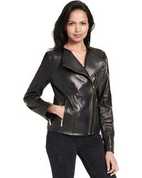 Wilsons Leather - Web Buster Mix Media Double Zip Leather Jacket - Lyst