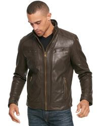 Wilsons Leather - Vintage Leather Jacket With Seam Detail - Lyst
