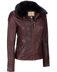 Wilsons Leather - Vintage Genuine Leather Jacket W/ Removable Faux-fur Collar - Lyst