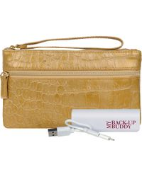 Wilsons Leather - Back Up Buddy Ii Faux-leather Wristlet - Croco - Lyst