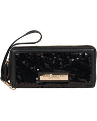 Wilsons Leather - Marc New York Patterned Zip Around Faux-leather Wristlet - Lyst