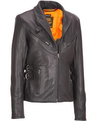 Wilsons Leather - Milwaukee Leather Longer Motorcycle Leather Jacket - Lyst