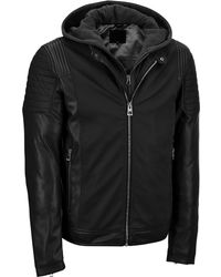 Wilsons Leather - Famous Maker Rugged Faux-leather Jacket W/ Zip-in Hood - Lyst