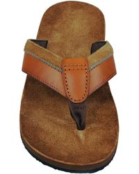 Wilsons Leather - Suede/leather Flip Flop - Lyst