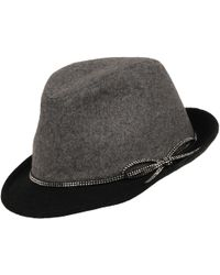Wilsons Leather - Fedora W/ Clear Stone Bow - Lyst