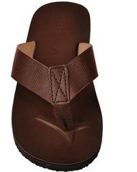 Wilsons Leather - Black Rivet Printed Leather Flip Flop - Lyst