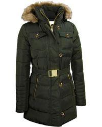 Wilsons Leather - Designer Brand Heavy Down Belted Fur Jacket - Lyst