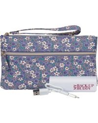 Wilsons Leather - Back Up Buddy Ii Faux-leather Wristlet - Floral - Lyst