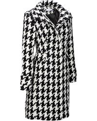 Wilsons Leather | Famous Maker Houndstooth Wool-blend Walker Coat | Lyst