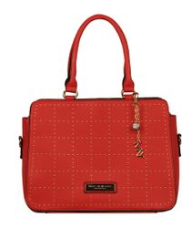 Wilsons Leather - Marc New York Faux-leather Satchel W/ Micro Stud Grid Detail - Lyst