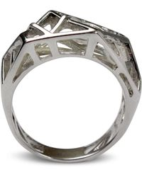 Bellus Domina - Hexa White Gold Ring - Lyst