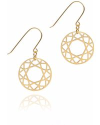 Myia Bonner - Gold Brilliant Diamond Drop Earrings - Lyst