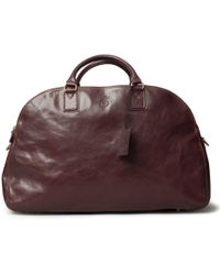 Maxwell Scott Bags - Luxury Italian Leather Travel Duffle Bag Fabrizio Dark Chocolate Brown - Lyst