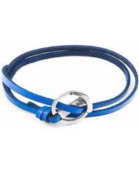 Anchor & Crew | Royal Blue Ketch Silver & Leather Bracelet | Lyst