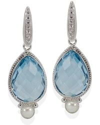 Vintouch Italy - Venus Blue Topaz Drop Earrings - Lyst