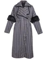 Ardent & Co - Faux Mink Fur Lace Coat - Lyst