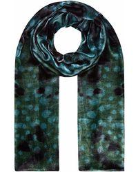 Klements - Long Velvet Scarf In Seaweed Print - Lyst