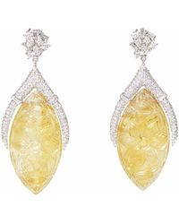 Ri Noor - Carved Citrine Earrings - Lyst