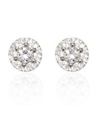 Ri Noor - Round Diamond Earrings In White Gold - Lyst