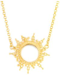Annabelle Lucilla Jewellery - Helios Necklace Gold - Lyst