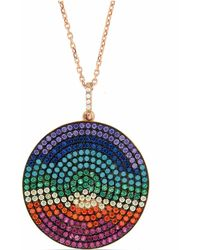 Cosanuova - Multicolor Long Heart Necklace - Lyst