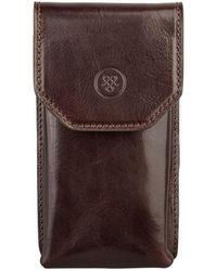 Maxwell Scott Bags - Luxury Italian Men's Leather Glasses Case Gabbro Chocolate Brown - Lyst