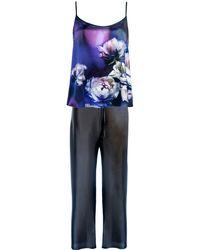 StephieAnn - Purple Silk Pyjamas - Lyst