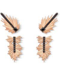 Elham & Issa Jewellery - Evolution Black Diamond Earrings - Lyst