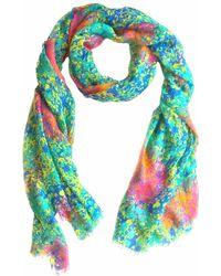 Cashmere Silk Scarf - Stars & Stripes by VIDA VIDA LrkdZe83VA